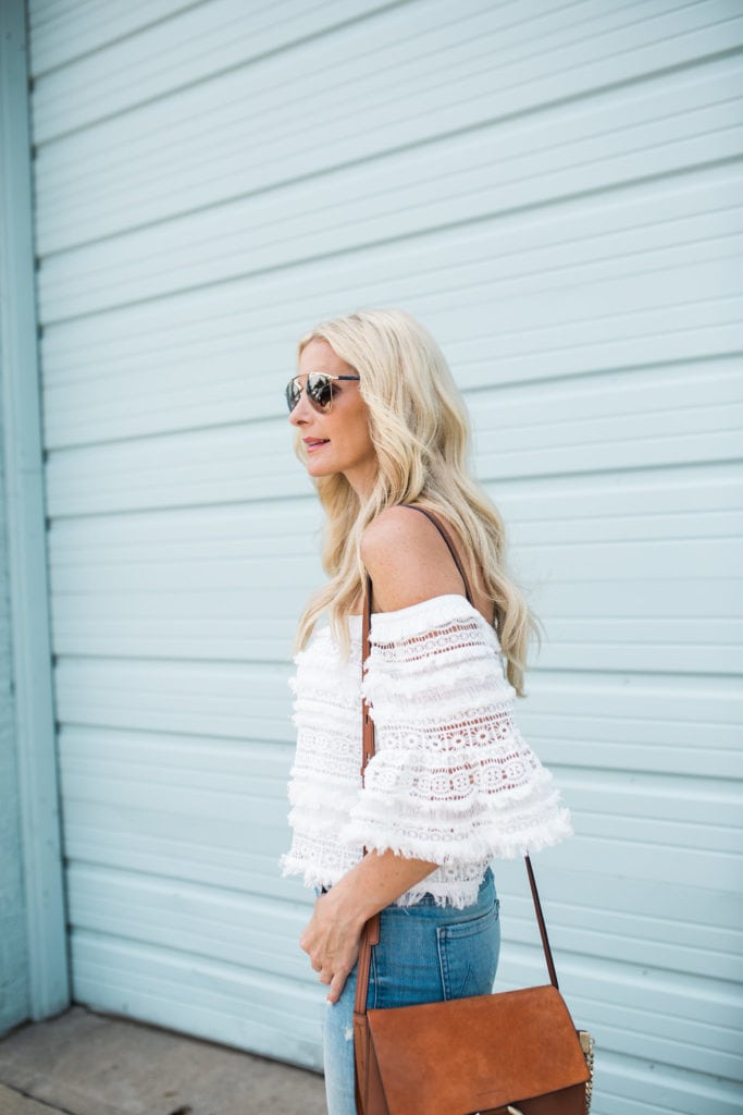 Chloe Faye Bag, Dallas Style Blogger, Off the Shoulder Top