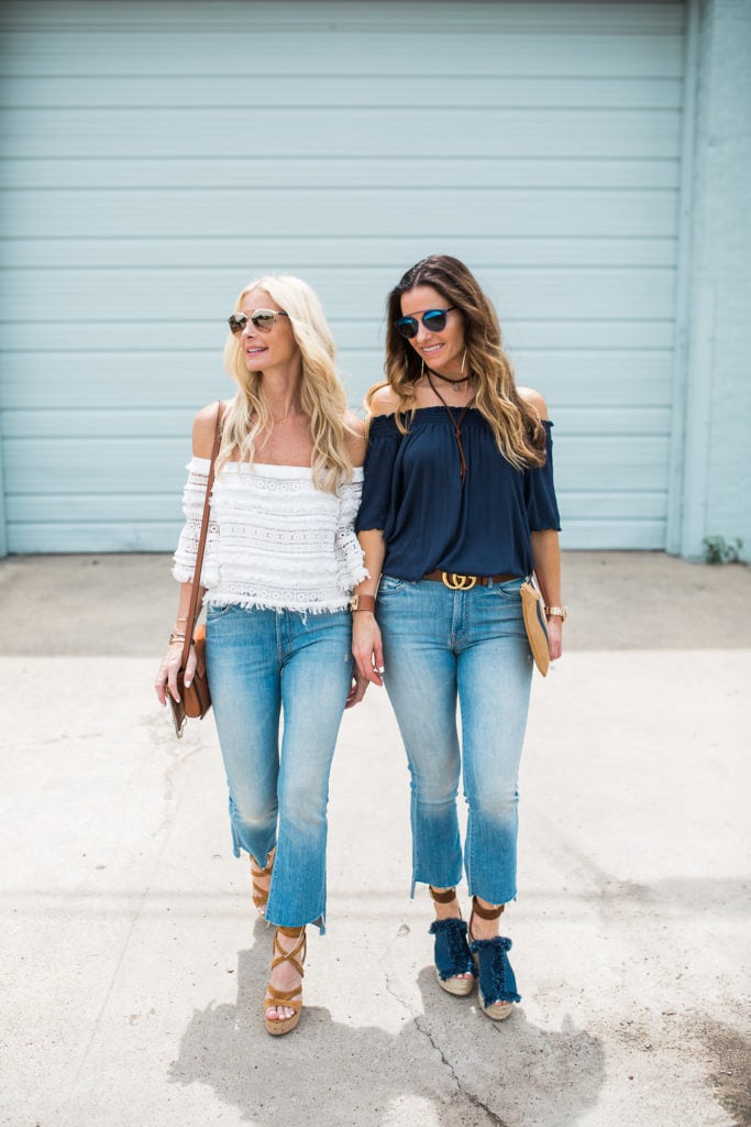 Mother Denim, The Street Edit, off the shoulder top
