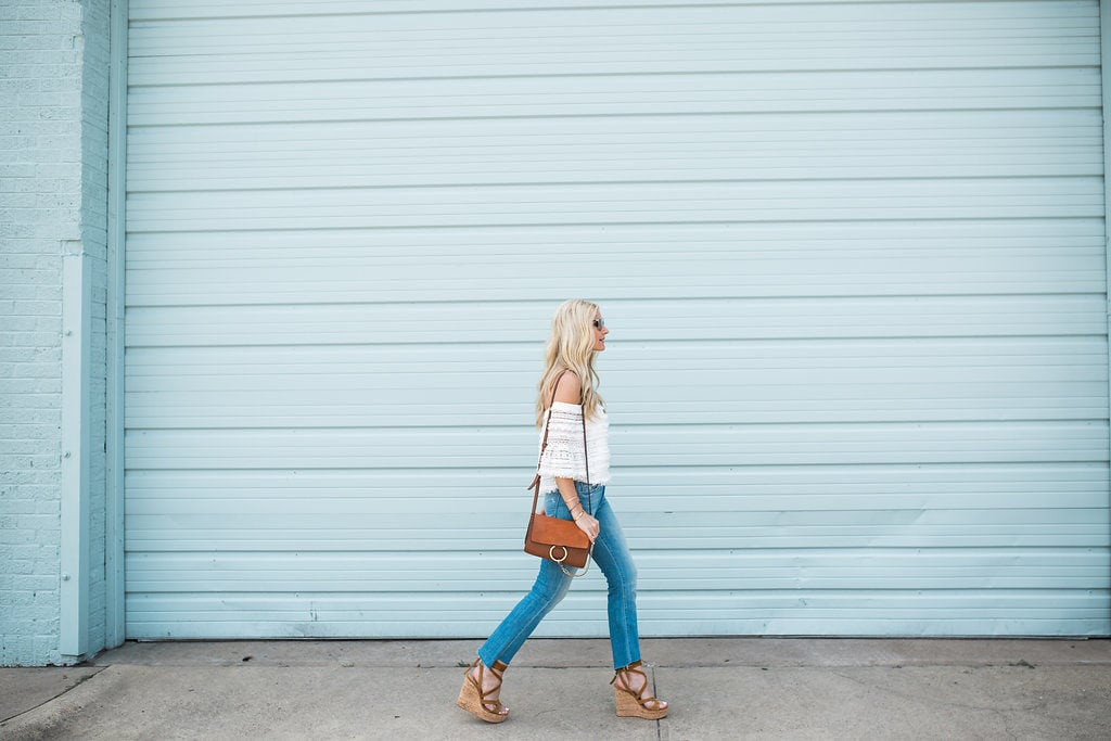 Mother Denim Cropped Flares, Heather Anderson, Dallas Fashion Blogger, Chloe Faye Bag
