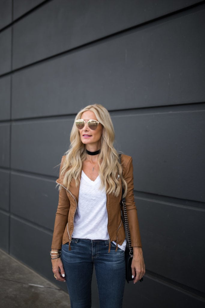 BlankNYC Jacket, Dallas Style Blogger, Black Choker