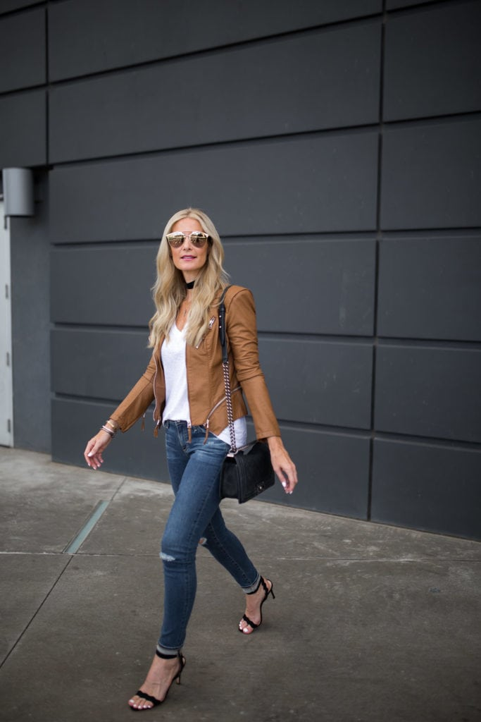 BlankNYC Leather Jacket, AG Jeans, Heather Anderson, Dallas Fashion Blogger