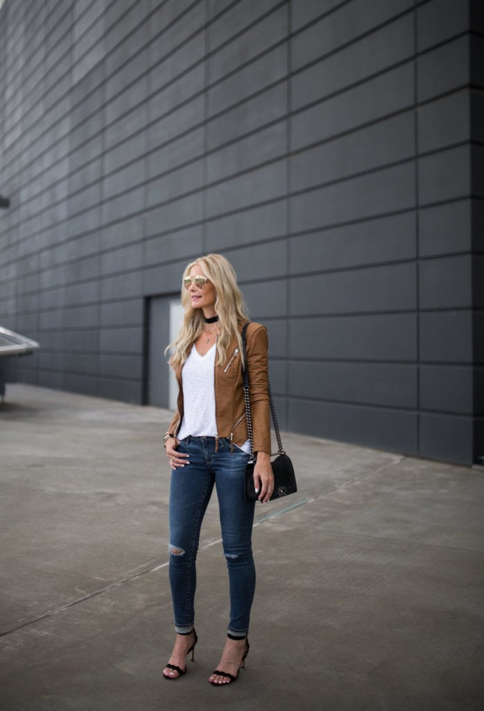 BlankNYC Jacket, AG Ripped Jeans, Dallas Fashion Blogger, Heather Anderson