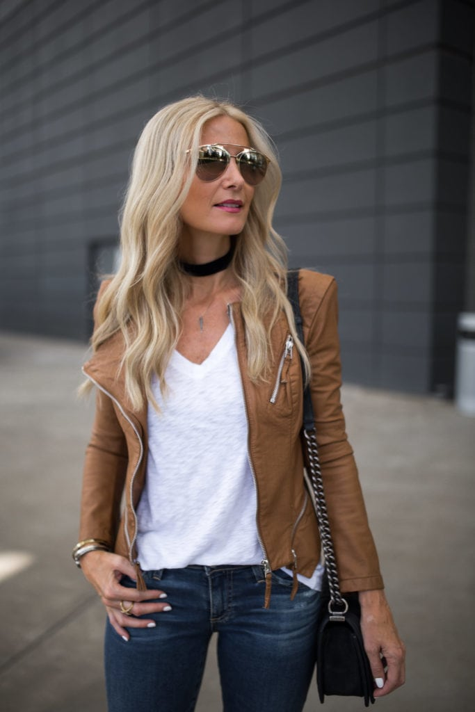 BlankNYC Jacket, Dallas Style Blogger, Black Choker, Dior Sunglasses