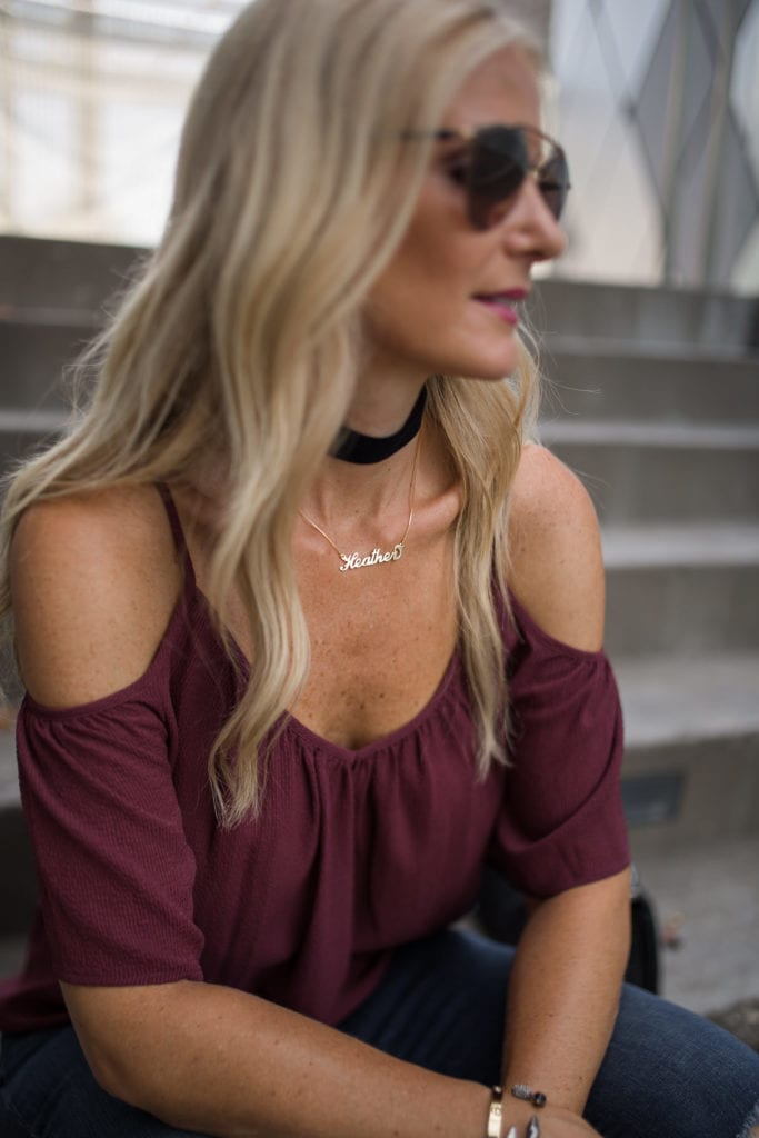 Ella Moss Top, Dallas Style Blogger, Cold Shoulder Top, Nordstrom Sale