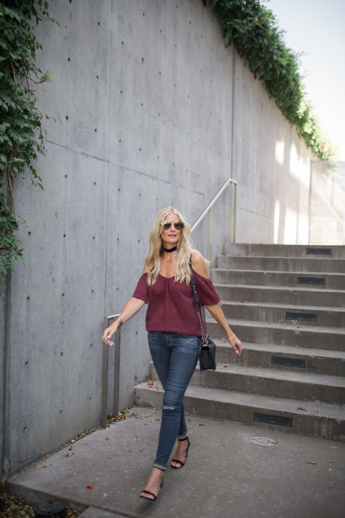 Shoulderless Top, Heather Anderson, Nordstrom Anniversary Sale, AG jeans