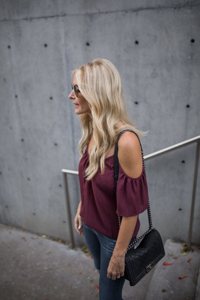 Cold Shoulder Top, Dallas Style Blogger, Heather Anderson, N Sale