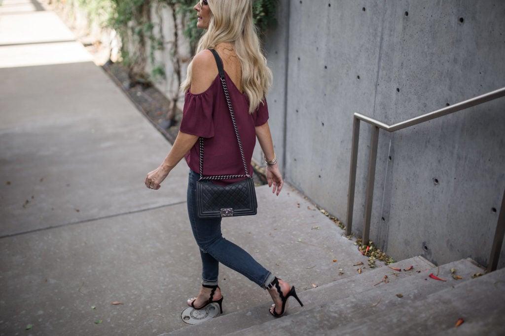 Ella Moss Top. Chanel Boybag, Dallas Fashion Blogger