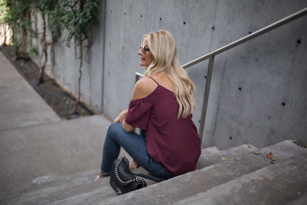 Cold Shoulder Top, Dallas Style Blogger, N Sale