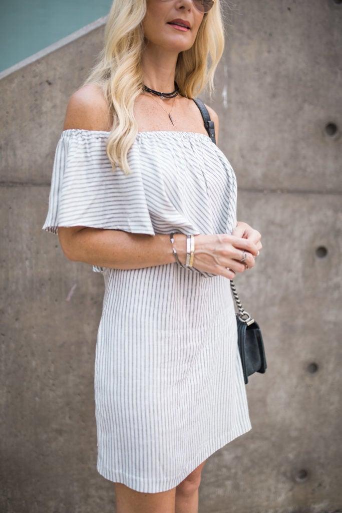 Off the shoulder, Black Choker, Dallas Style Blogger, Dior Sunglasses