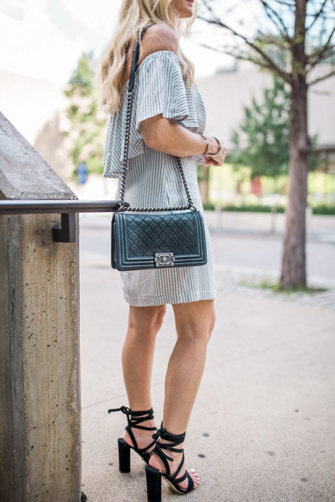 Off the shoulder dress, Heather Anderson, Dallas Fashion Blogger