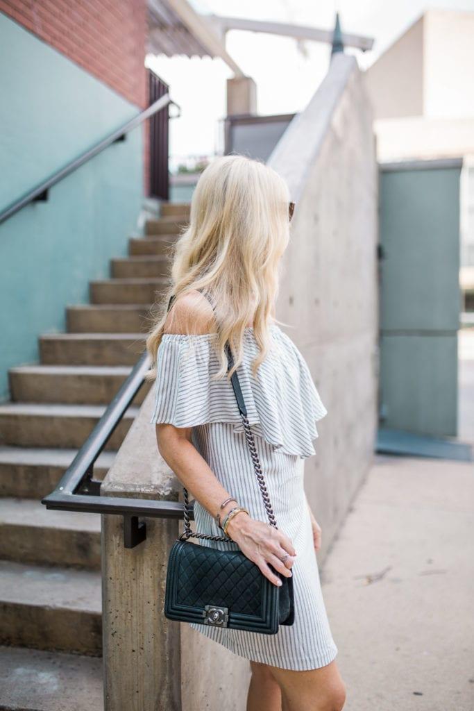 Chanel Boybag, Dallas Style Blogger, Wayf Dress