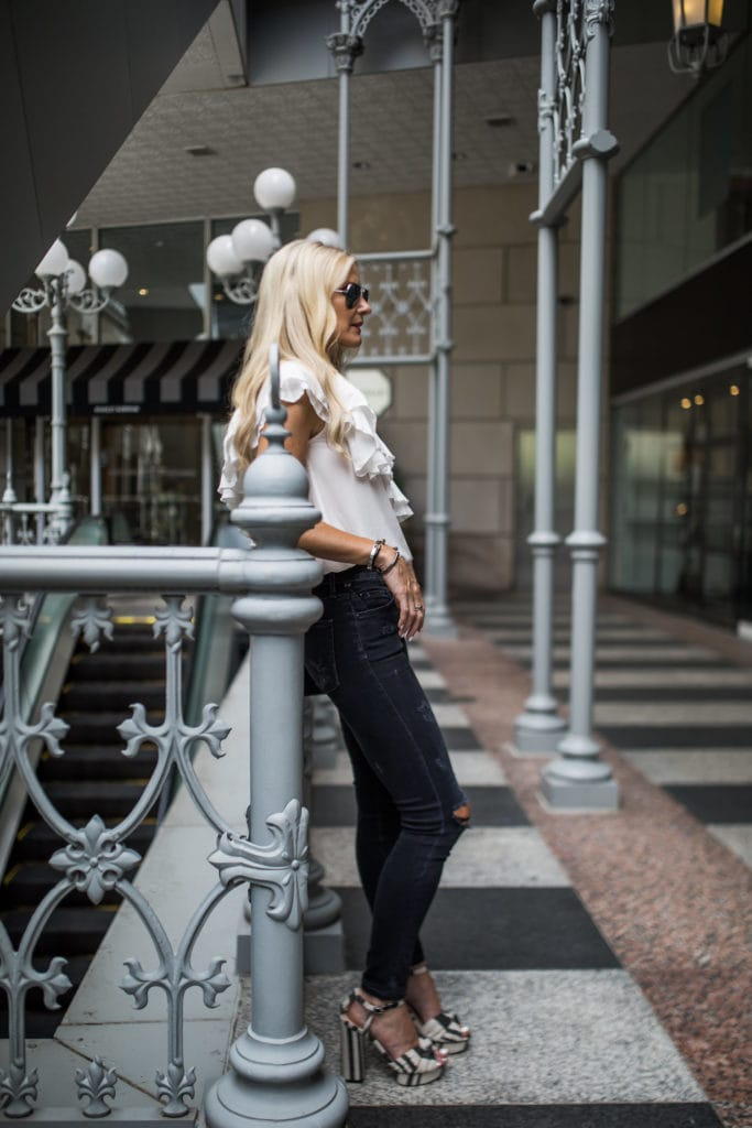 One Shoulder Top, Heather Anderson, Citizens of Humanity jeans