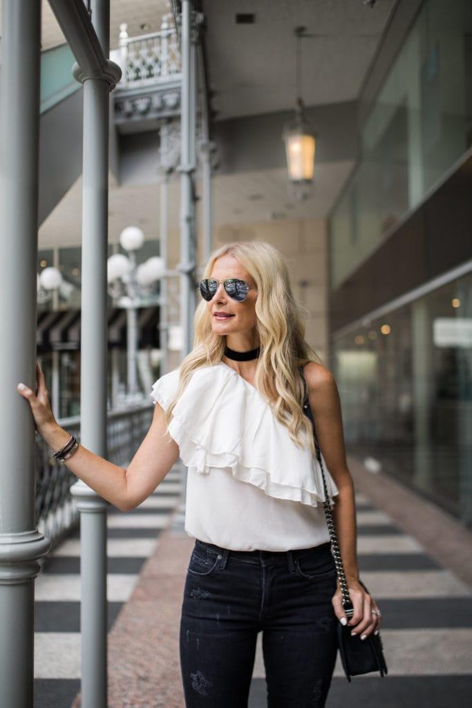 Dallas Style Blogger, Heather Anderson, Black choker