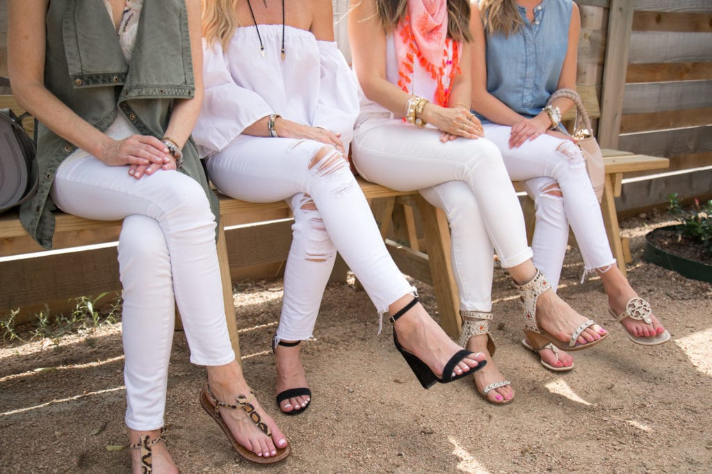 Ripped White Jeans, Chic at Every Age, Dallas Style Blogger