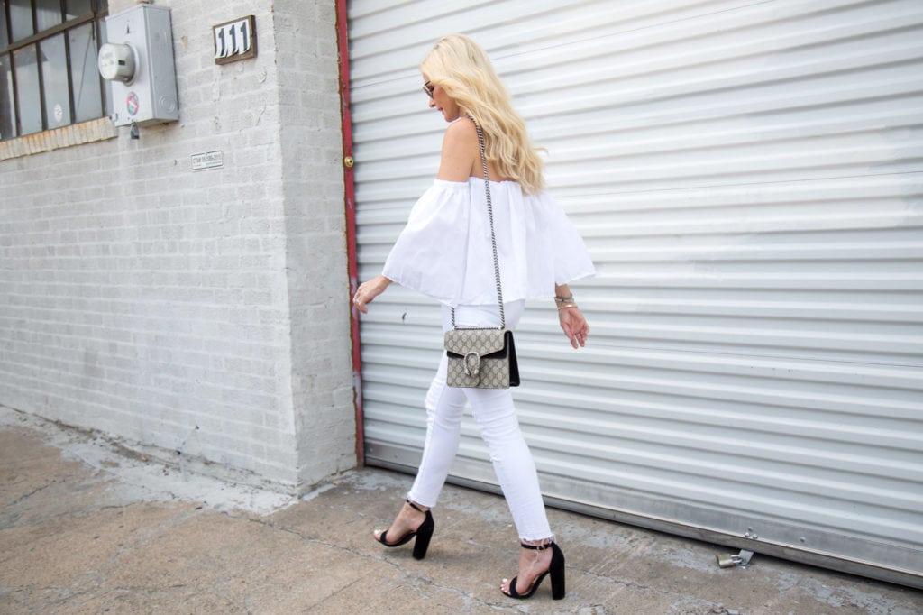 White jeans, Dallas fashion blogger, heather anderson