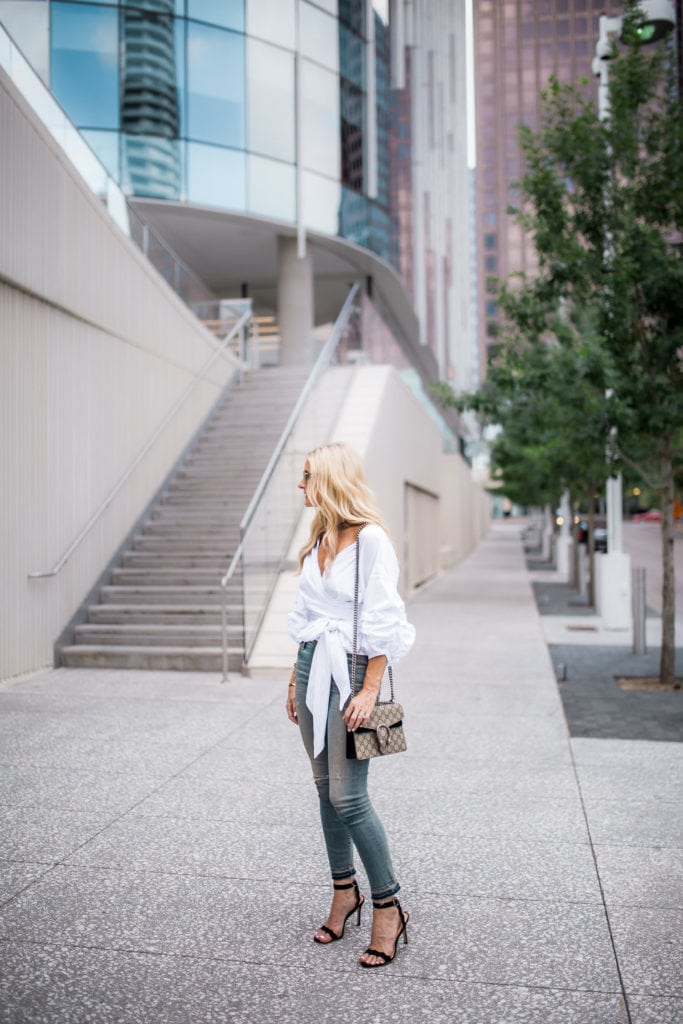 Dallas Style Blogger, Citizens of Humanity Jeans, Gucci Handbag