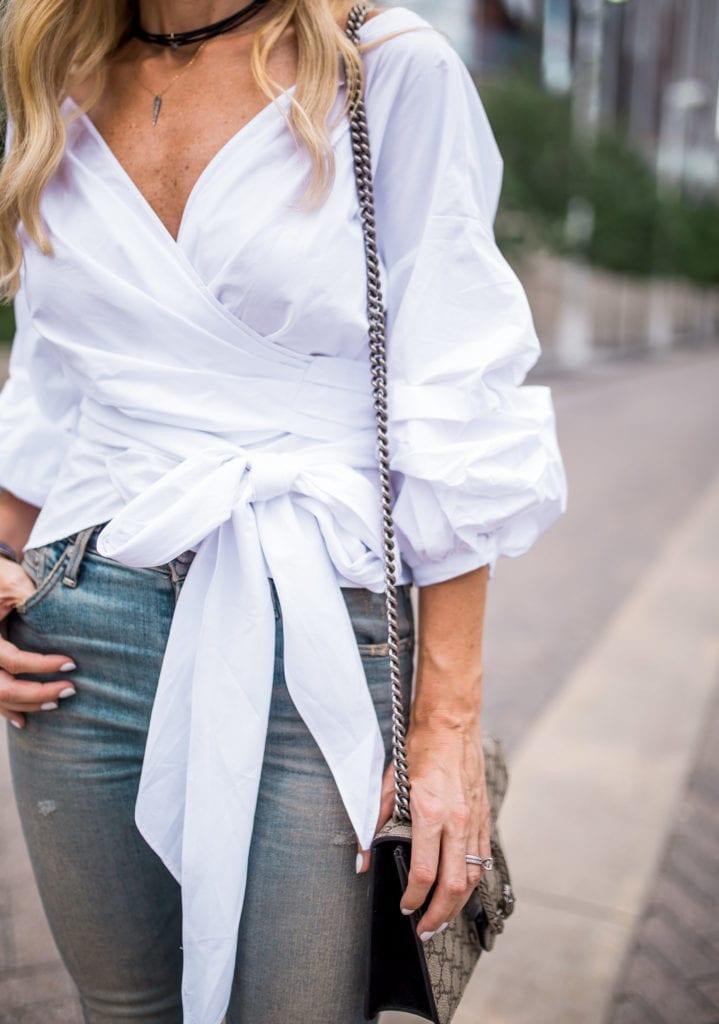 Storets shirt, Dallas Style Blogger, Black Choker
