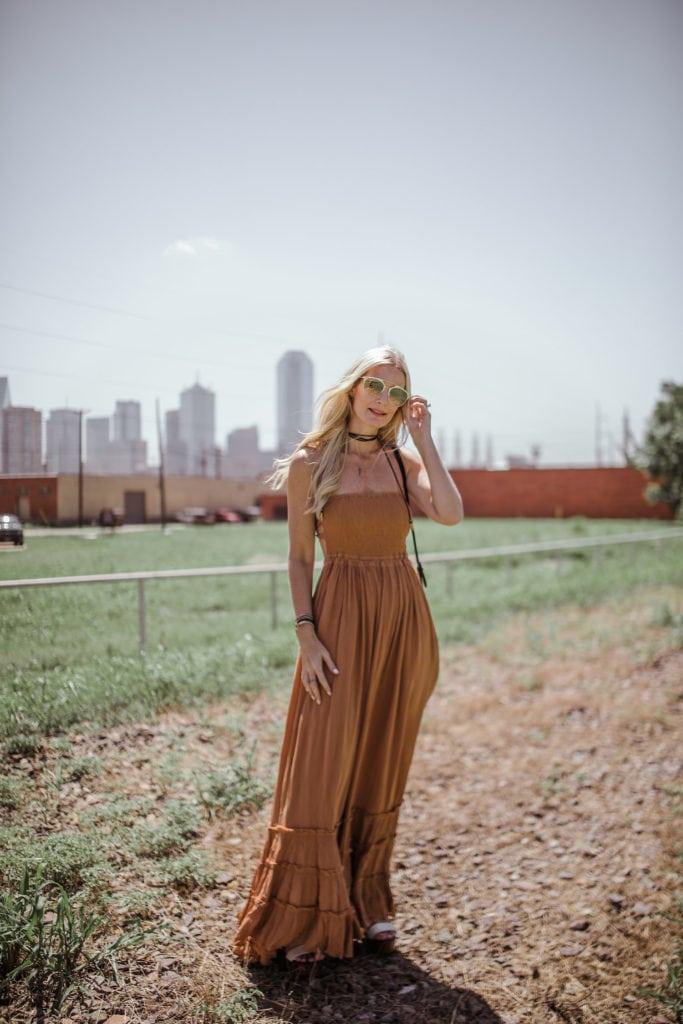 Free People Dress, Heather Anderson, Dallas Fashion Blogger, Black Wrap Choker