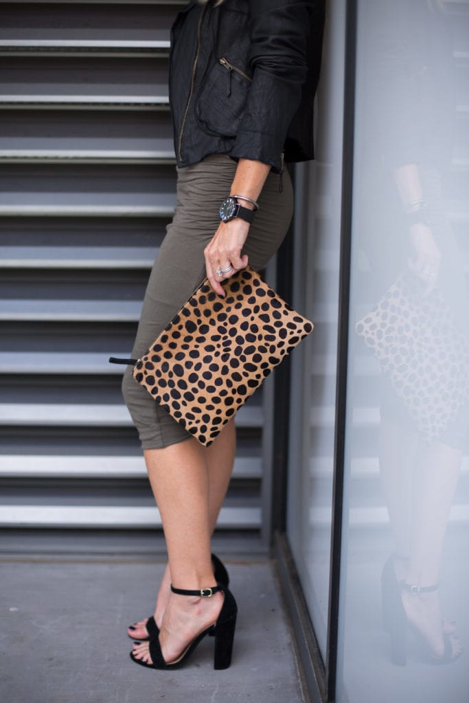 Clare V Clutch, Dallas Style Blogger, Christian Paul Watch