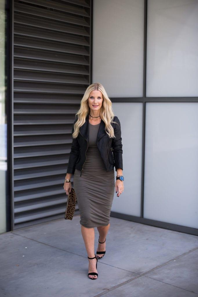 Clare V Clutch, Black Moto Jacket, Heather Anderson, Dallas Fashion Blogger
