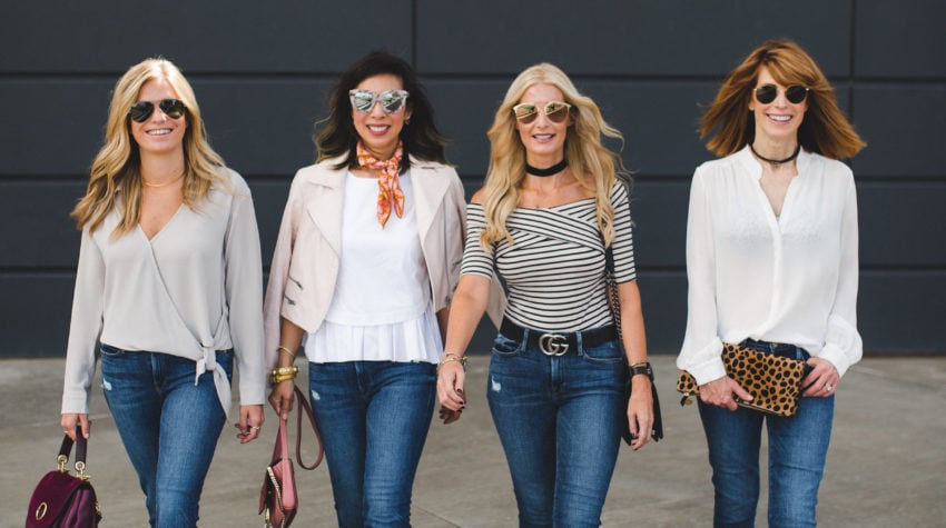 CHIC AT EVERY AGE FEATURING FRAME DENIM