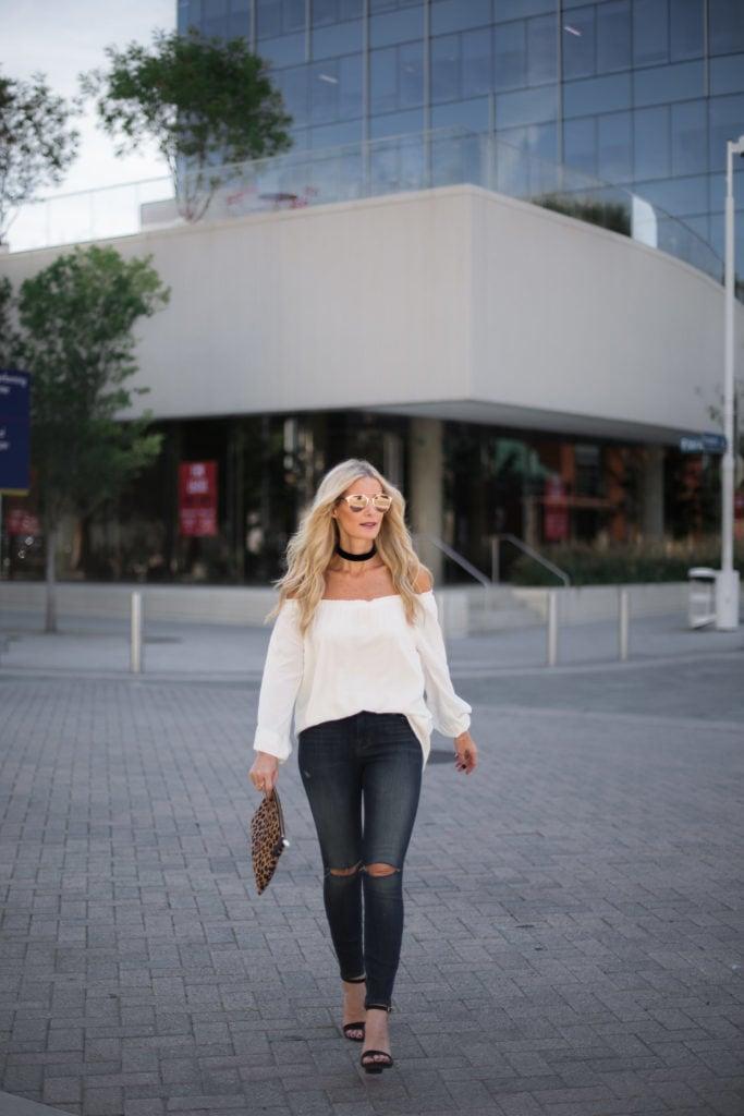 Sanctuary White Top, Heather Anderson, Dallas Fashion Blogger