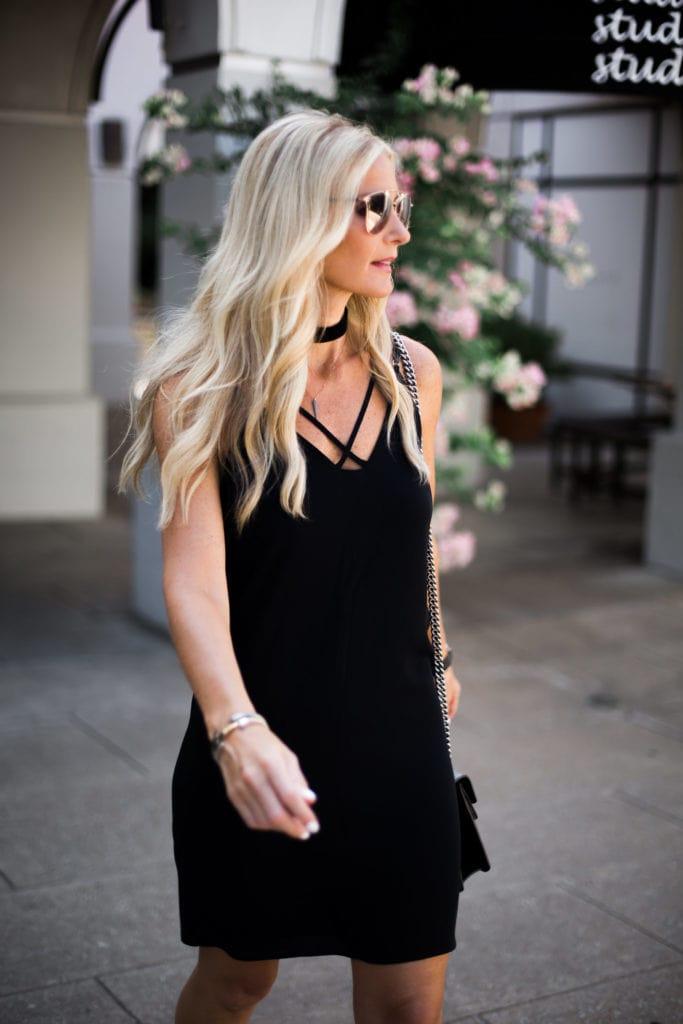 Black Slip Dress, Heather Anderson, Dallas Style Blogger