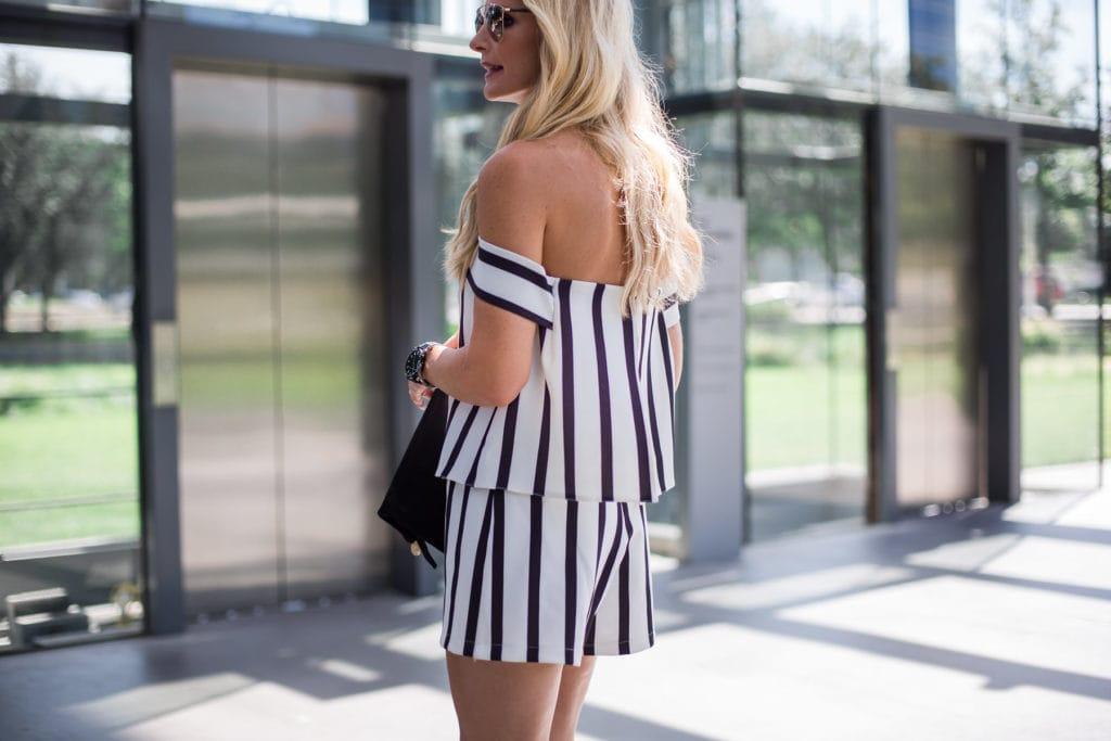 Striped Romper, Dallas Style Blogger, Heather Anderson