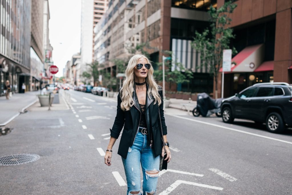 Dallas Style Blogger, Black Leather Choker, Gucci Belt