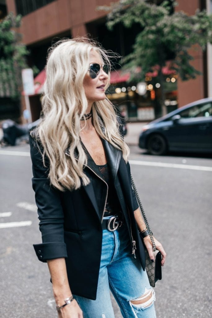 Heather Anderson, Dallas Style Blogger, Black Veronica Beard Blazer