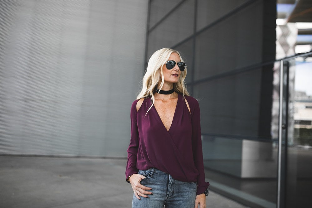 Burgundy Silk Blouse