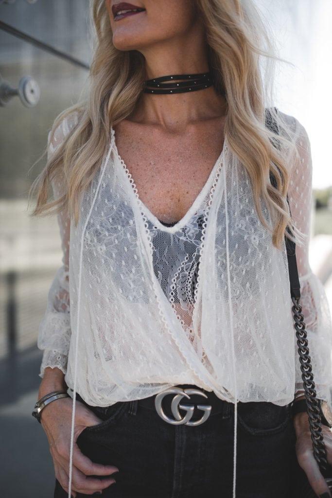 Gucci Belt, Dallas Style Blogger, Black Choker