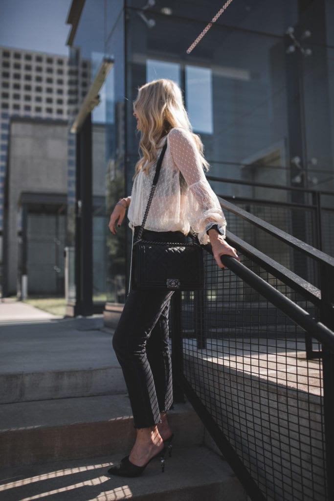 Heather Anderson, Black Cropped Jeans, Grlfrnd Denim, Chanel boybag