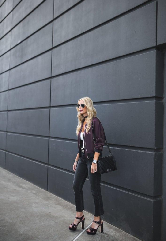 Topshop Silk Bomber Jacket, Heather Anderson, Dallas Fashion Blogger