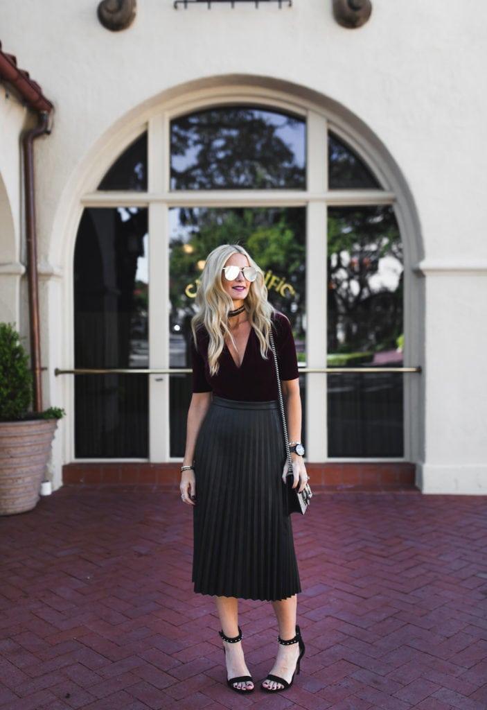 Heather Anderson, Burgundy Bodysuit, Dallas Fashion Blogger