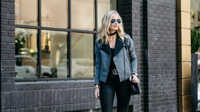 CHIC AT EVERY AGE FEATURING THE PERFECT MOTO JACKET