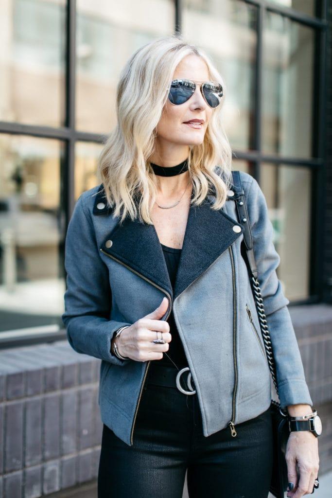 Gray Moto Jacket