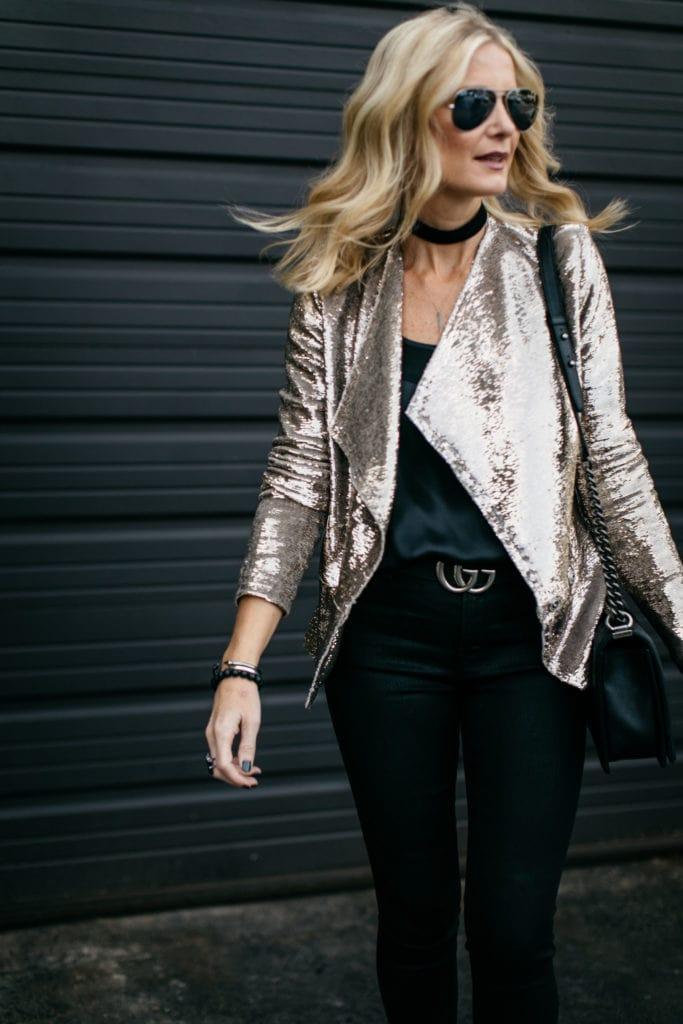 Iro Gold Sequin Jacket