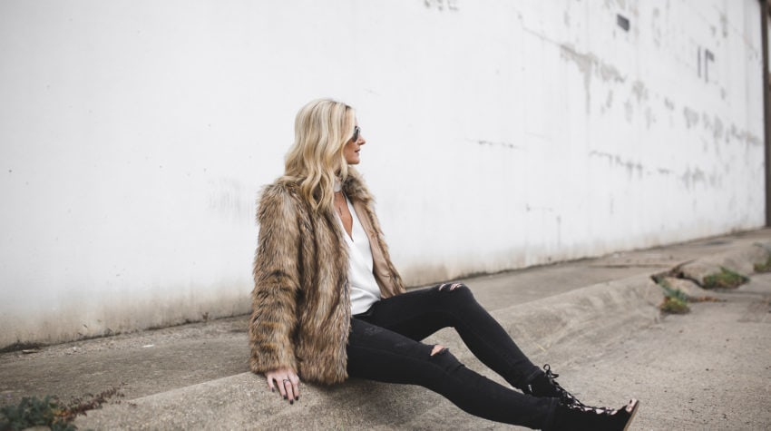FAUX FUR AFTER KATE MOSS