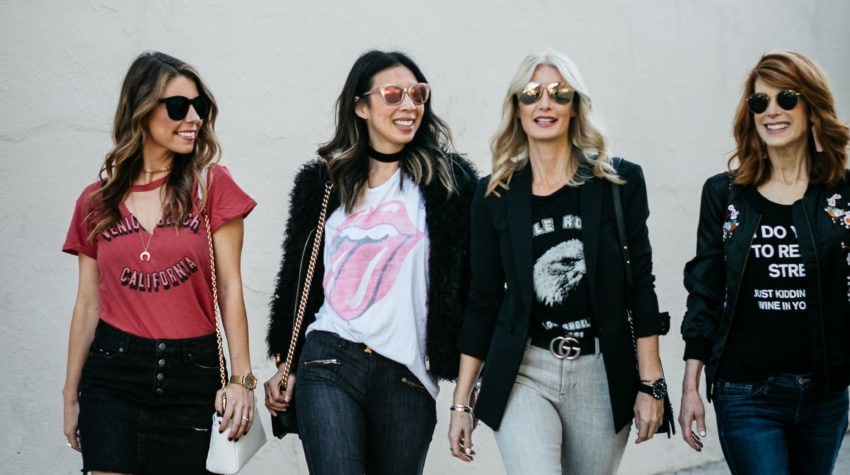 CHIC AT EVERY AGE FEATURING GRAPHIC TEES + GUCCI BAG GIVEAWAY