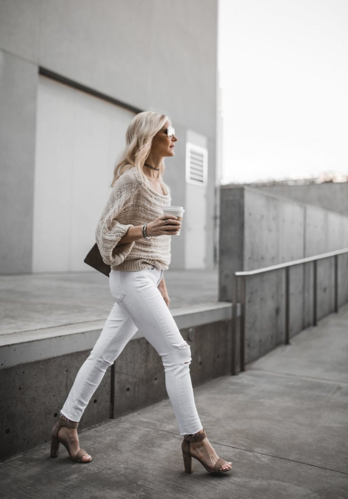 J Brand White Ripped Jeans