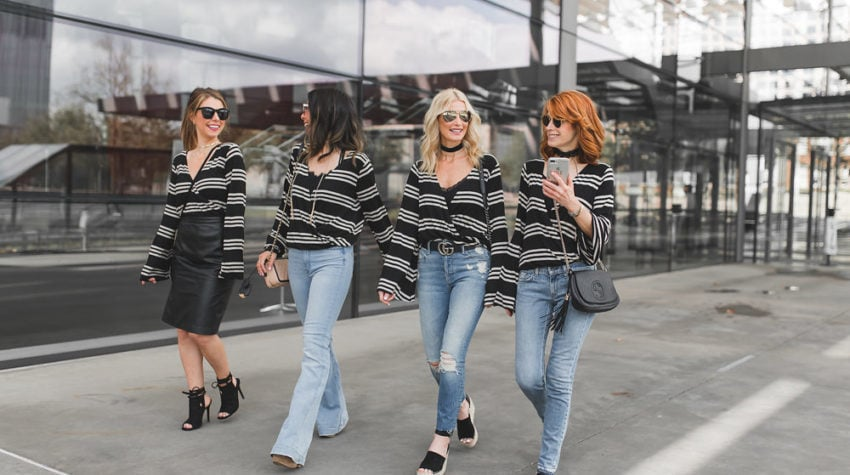 CHIC AT EVERY AGE FEATURING STRIPED TOPS