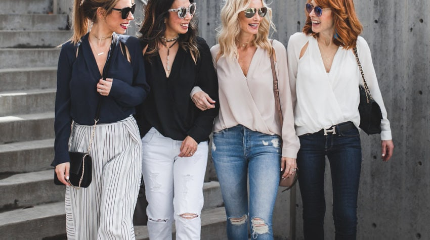CHIC AT EVERY AGE FEATURING CUT-OUT TOPS