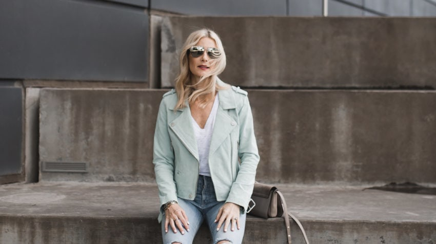 THE PERFECT SPRING MOTO WITH NORDSTROM