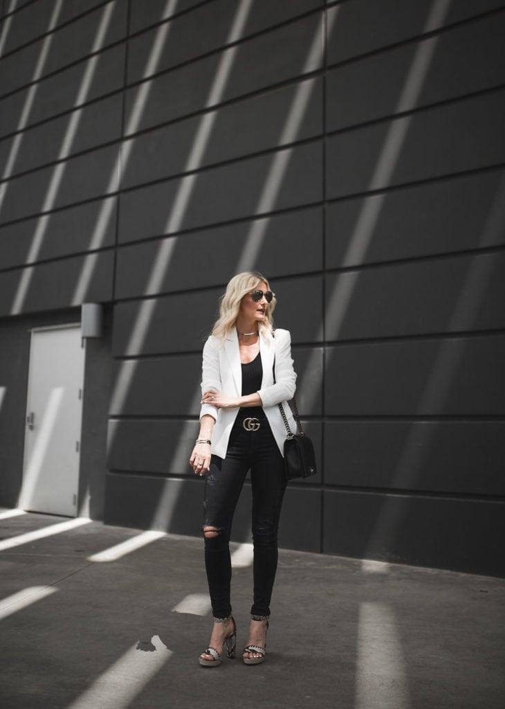 Mural White Blazer