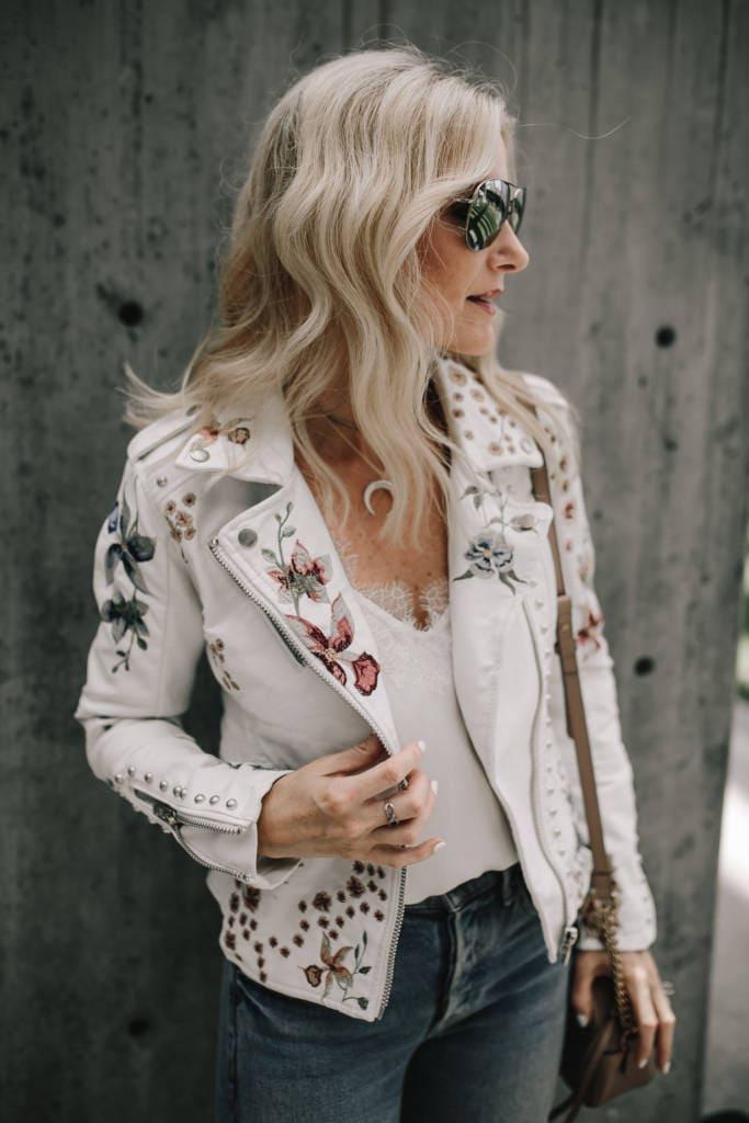 Blanknyc Floral Moto Jacket