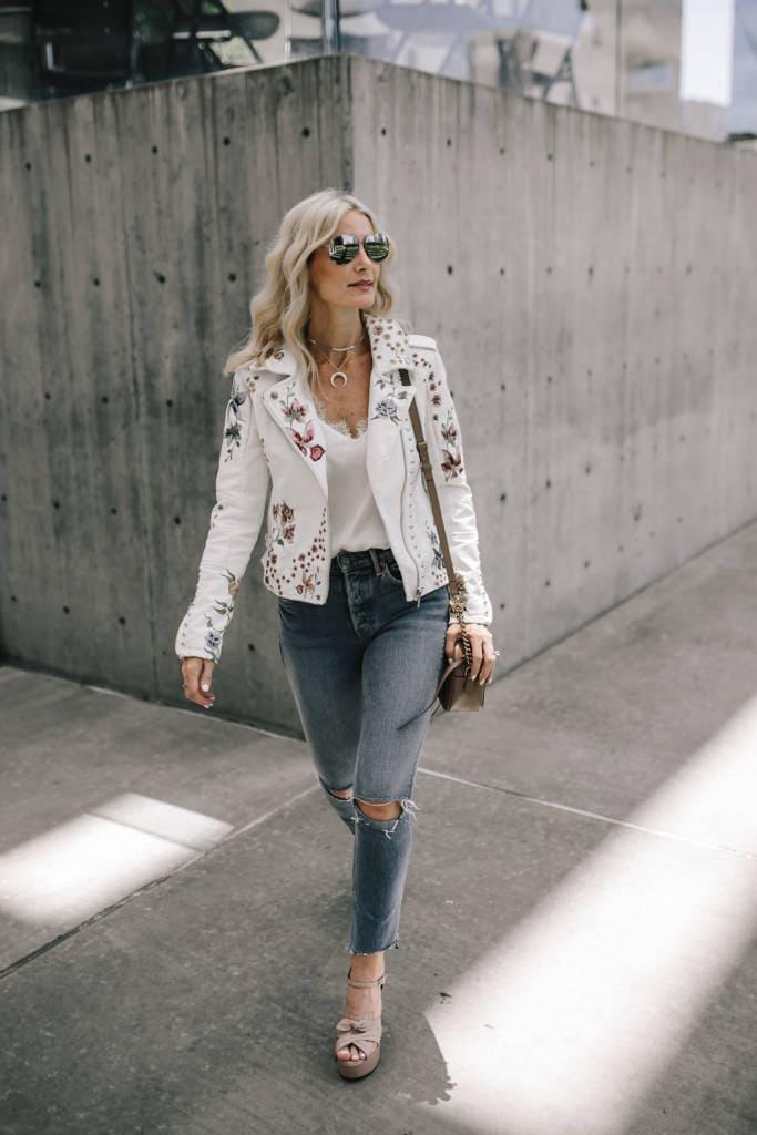 Blanknyc White Moto Jacket