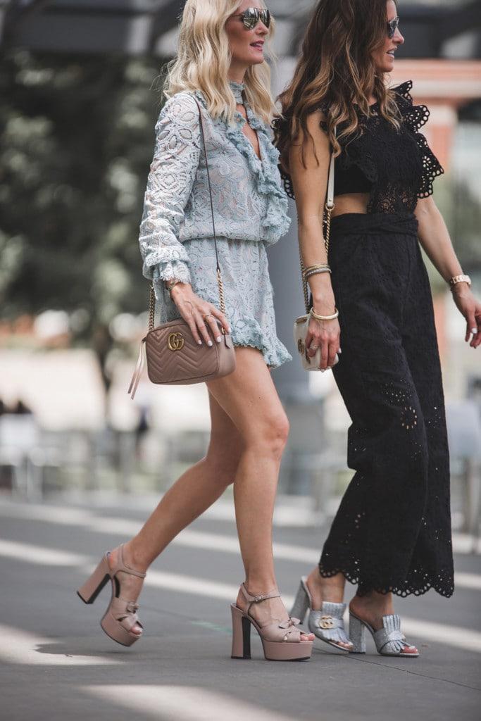 Alexis Blue lace Romper