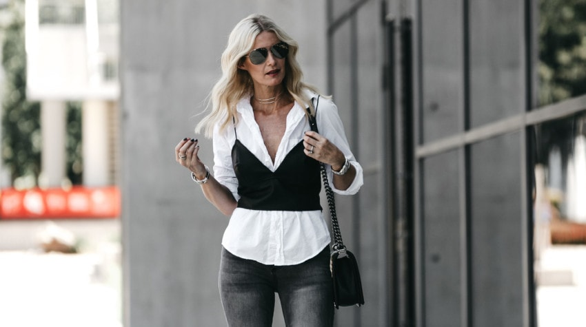 HOW TO DRESS UP A WHITE BUTTON DOWN