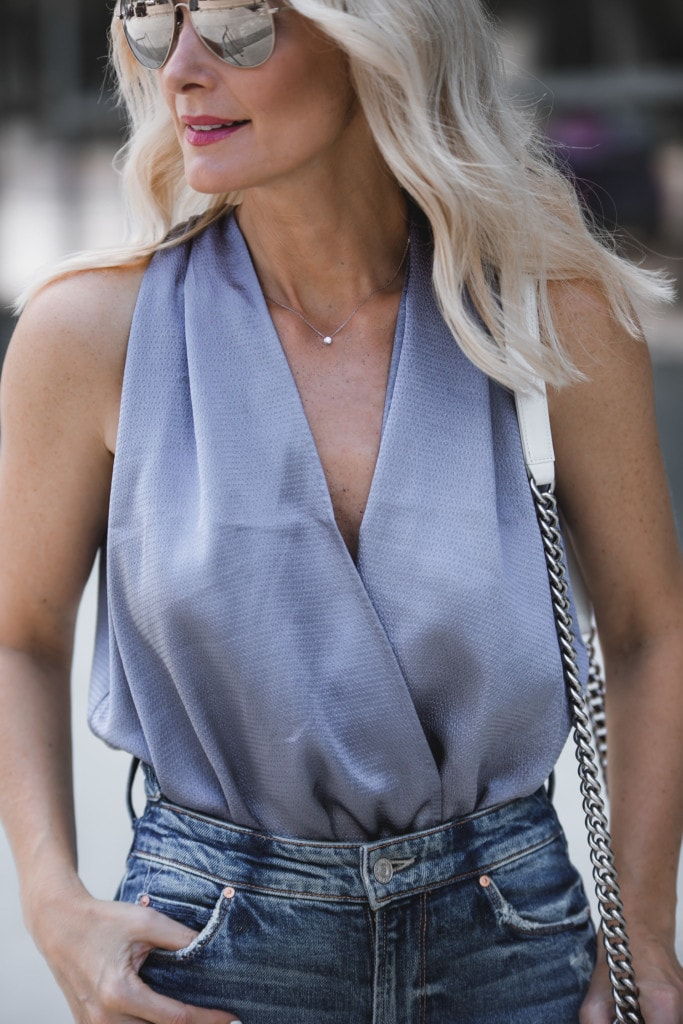 Blue Silk Top